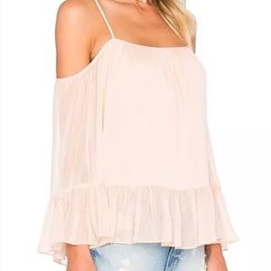 Lovers + Friends Cold Shoulder Bell Sleeve Top XS